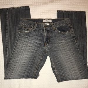 Armani Exchange Low Rise Boot Cut Jeans Size 2R